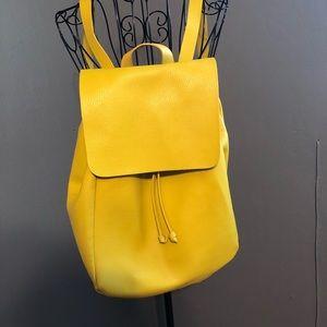 Zara lime green leather backpack